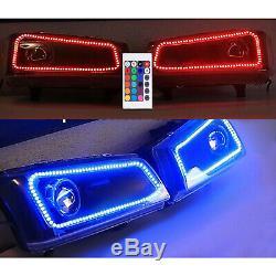 03-06 Chevy Silverado Multi-Color Changing Shift LED RGB Headlight Halo Ring Set
