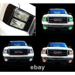 08-10 Ford F-250 Multi-Color Changing Shift LED RGB SMD Halo Headlight Rings Set