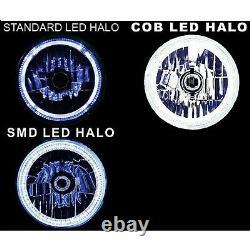 (1) H6024/6014 7 RGB Multi-Color White Red Blue Green COB LED Halo H4 Headlight