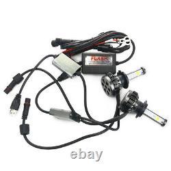 1 Pair H7 RGB DRLs LED Headlights Phone APP Control Waterproof Color Changing
