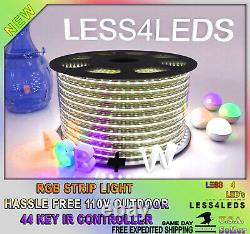 100ft 110- 120V Led Strip Light RGB +W LED Light Flex Outdoor Holiday WIFI Ready