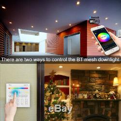 10X RGBWC LED Ceiling Panel Lamp Down Light Smart WIFI/Bluetooth Mesh Spotlights