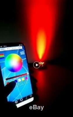 10pcs smart dj par battery dmx wireless wifi uplighting 6 led6in1 white in case