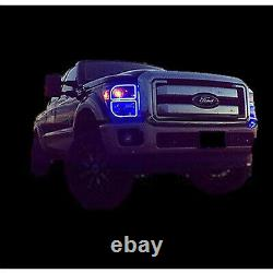 11-16 Ford F-250 Multi-Color Changing LED Headlight Halo Rings BLUETOOTH Set