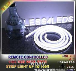 110V 120V Led Neon Rope Lights 50m RGB+W Flexible waterproofed Led Strip Light