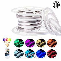 110V 120V Led RGB Neon Rope Light SMD 5050 Color Changing Led Strip with Remote