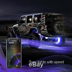 12V App control 4x15 Universal Wheel LED Accent Color Changing Light Kit