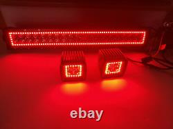 13.5 LED Light Bar + 2x 3 Cube Pods with RGB Halo Ring Chasing For Truck ATV SUV