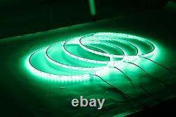 15.5 RGB LED Shifting Change Dream Color Truck Wheel Rings Rim Lights Bluetooth