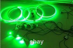 15.5RGB Color Change Wheel Rings Lights+4pcs RGB Rock Lights works together Kit