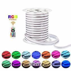 150ft 110V 120V Led RGB Neon Rope Light 12.5x23mm Multi-Color Change + RF Remote