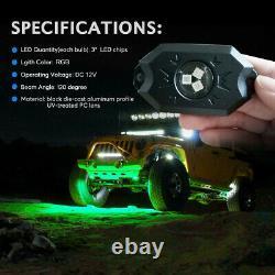 16 Pods LED Rock Lights RGB Multi-Color Change Music Flashing Bluetooth Control