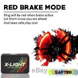 17 RGB Color Change illuminated LED Wheel Rings x4pcs Rim Lights KIT Music Mode