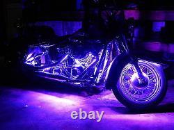18 Color Change Led Hayabusa Motorcycle 12pc Led Neon Strip Light Kit