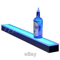 18 Lighted Liquor Bottle Shelf, Great Fpr Home Bar Displays, Color Changing
