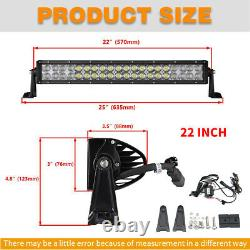 2 Row 22 LED LIGHT BAR COMBO RGB Color Changing Chasing Strobe Remote Control