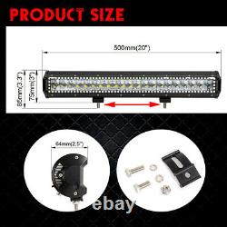 20 Led Light Bar Combo Bluetooth RGB Halo Color Changing Chasing & Free Wiring