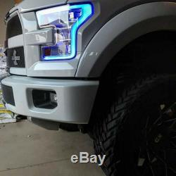 2015-2017 Ford F-150 RGBW LED Multi-Color Changing Headlight Accent Boards Set