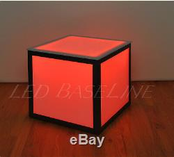 21 Led Cube End Table Color Changing Modern