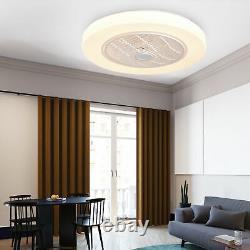 22.5 Ceiling Fan LED Light Bluetooth Speaker Chandelier Remote 3 Color Change