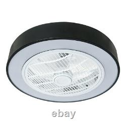 22.6 Ceiling Fan LED Light Chandelier Lamp 3 Color Change Modern Remote Control