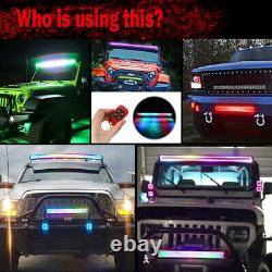 22inch RGB Led Light Bar Multi changing colors Cube Pods Remote Control for SUV