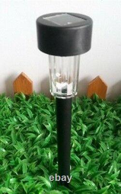 24 Outdoor Solar Garden Changing Color Led Light Lamp Black Color Large OD 62mm