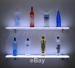 24 Wall Mounted Led Color Changing Remote Controlled Acrylic Home/bar Shelf
