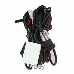 2X 3 White + Amber Dual Colors Strobe 4D LED Work Light Bar Remote Wiring Kits