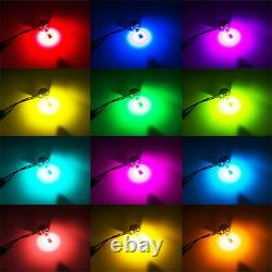 2X Car H7 RGB Multi-Color Changing LED Headlight Kit Phone APP Controller Light