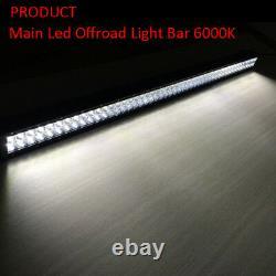 3/4/14/20/22/32/42/50INCH RGB HALO CHASING LED LIGHT BAR Pods Wireless Bluetooth