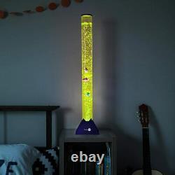 3.9 ft Bubble Tube Floor Lamp 10 Fish Tower Tank 20 Color LED Aqua Night Light