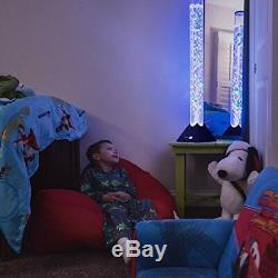 3.9 ft Bubble Tube Floor Lamp w 10 Fish 20 Color Remote Living Bedroom decor