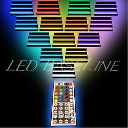 30 LED LIGHTED BAR SHELVES, Three step, Remote color changing lights, home bar