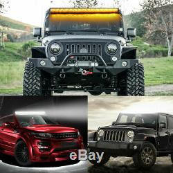 32INCH 1968W CURVED LED Fog Light Bar Amber/White Dual Color Change Offroad SUV
