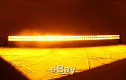 32INCH CURVED LED Light Bar Amber/White Dual Color Change Offroad SUV Truck ATV