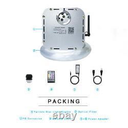 32W RGB Twinkle LED Fiber Optic Star Ceiling Light Kit Cable 1000pcs 0.75mm 5m