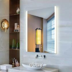 32x24in Illuminated LED Bathroom Mirror with Bluetooth Light Color Changing