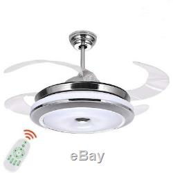 36 Invisible Ceiling Fan Light Dining Room Chandelier LED Pendant Lamp Fixtures