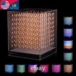 3D Led Cube Light DIY Kit Squared LED 8x8x8 Electronic Toy for Children Teenager