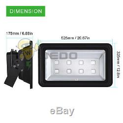400W RGB LED Flood Light Lamp Black Shell 16 Colors Change 4 Modes with Remote