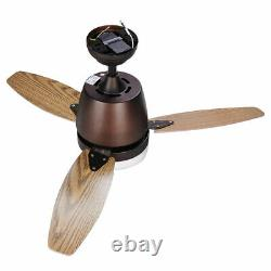 42 3 Blades Ceiling Fan with LED Light and Remote Control Room Color Changing