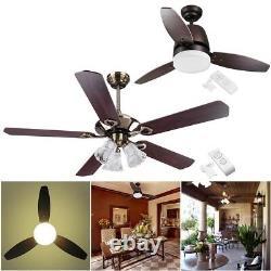 42 48 52 Downrod Bronze Ceiling Fan wtih Light Kit Remote Control 3/5 Blades