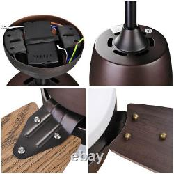 42 Indoor Ceiling Fan with LED Light Kit 3 Blades Remote Control Color Changing