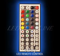 46 LED BOTTLE BAR RACK SHELF, Two Steps, Color Changing Lights, Glass Display