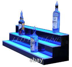 46 LED LIGHTED BAR BOTTLE RACK SHELVES, Remote Color Changing, Three Steps