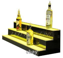 48 LED LIGHTED BAR BOTTLE RACK SHELVES, Remote Color Changing, Three Steps