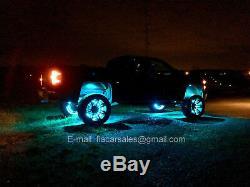 4Rings15.5 RGB Color Change Wheel Rim Lights+ 6Pods RGB Rock Lights (Bluetooth)