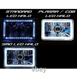 4X6 RF Color Change RGB SMD LED Shift Halo Angel Eye Headlight Light Bulbs Pair
