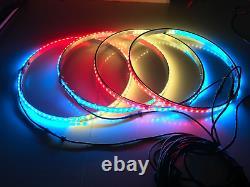 4pcs 15.5 RGB Shifting Change Color LED Truck Wheel Rings Rim Lights Bluetooth